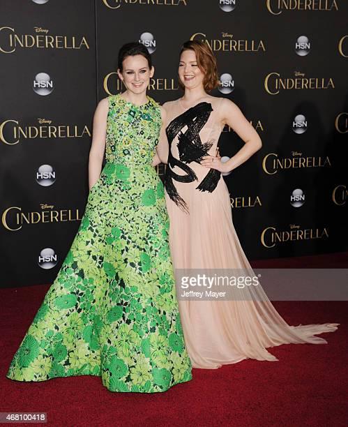 Actresses Sophie McShera Holliday Grainger arrive at the World Premiere of Disney's 'Cinderella' at the El Capitan Theatre on March 1, 2015 in...