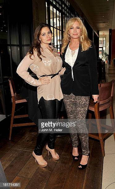 Actresses Sophie Simmons and Shannon Tweed attend the announcement of Rocktoberfest at Wolfgang Puck's Bar Grill at LA Live on September 10 2012 in...