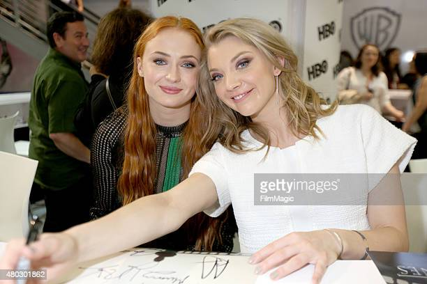 Actresses Sophie Turner and Natalie Dormer at the 'Game Of Thrones' autograph signing during ComicCon International 2015 at the San Diego Convention...