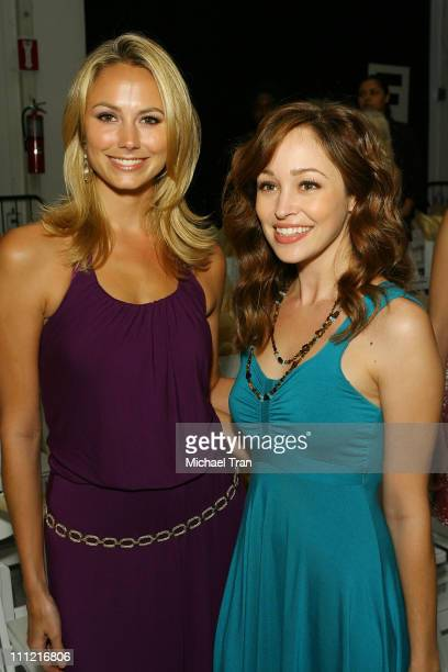 Actresses Stacy Keibler and Autumn Reeser front row at TART Spring 2008 collection during Mercedes Benz Fashion Week held at Smashbox Studios on...