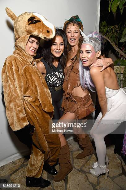 Actresses Stacy Keibler Emmanuelle Chriqui and Jenna Dewan Tatum attend the Casamigos Halloween Party at a private residence on October 28 2016 in...