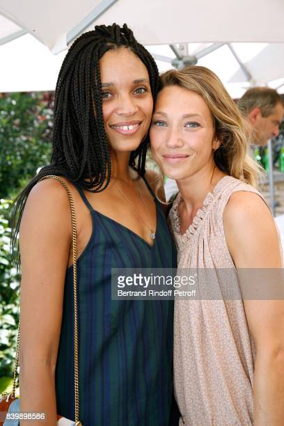 Actresses Stefi Celma and Laura Smet attend the 10th Angouleme FrenchSpeaking Film Festival Day Six on August 27 2017 in Angouleme France