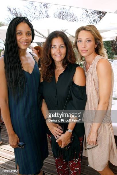 Actresses Stefi Celma Cristana Reali and Laura Smet attend the 10th Angouleme FrenchSpeaking Film Festival Day Six on August 27 2017 in Angouleme...