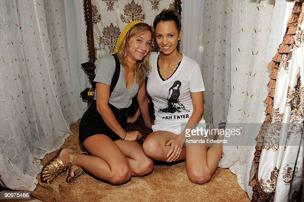 Actresses Stella Maeve and Marnette Patterson attend the DPA preEmmy Gift Lounge at the Peninsula Hotel on September 19 2009 in Beverly Hills...