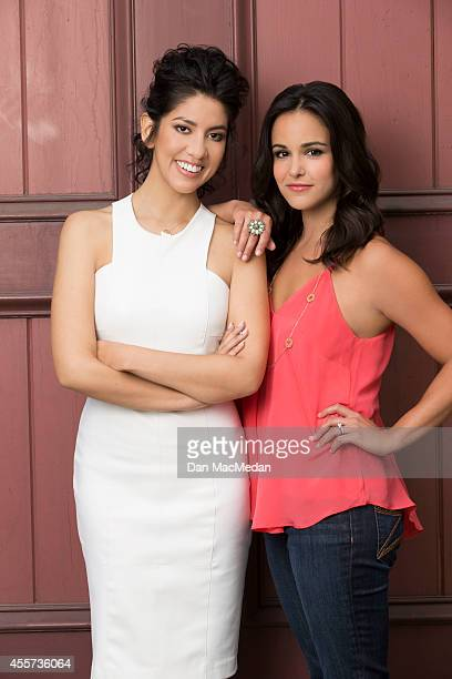 Actresses Stephanie Beatriz and Melissa Fumero are photographed for USA Today Hispanic Living on May 22 2014 in Los Angeles California