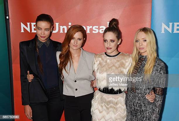 Actresses Stephanie Corneliussen Grace Gummer Carly Chaikin and Portia Doubleday attend the 2016 Summer TCA Tour NBCUniversal Press Tour at the...