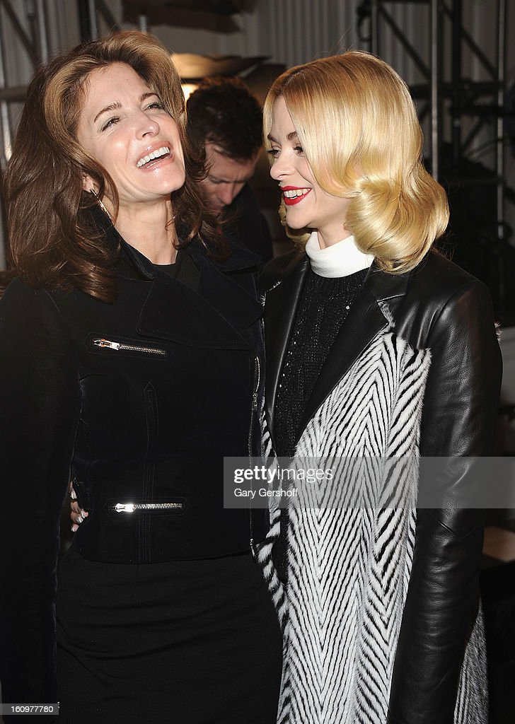 Actresses Stephanie Seymour (L) and Jaime King attend Jason Wu during Fall 2013 Mercedes-Benz Fashion Week on February 8, 2013 in New York City.