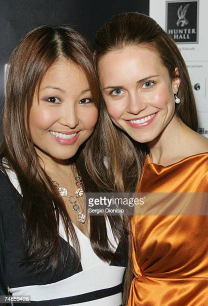 """Actresses Sun Park and Saskia Burmeister arrives at the Australian premiere of """"The Jammed"""" at Greater Union George St on June 22, 2007 in Sydney,..."""