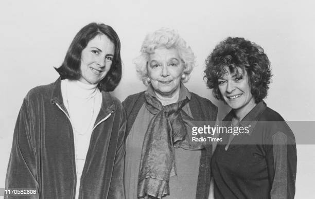 Actresses Susan Engel and Janet Suzman with writer Rosamond Lehmann for the BBC Radio 4 drama 'The Echoing Grove' April 1981