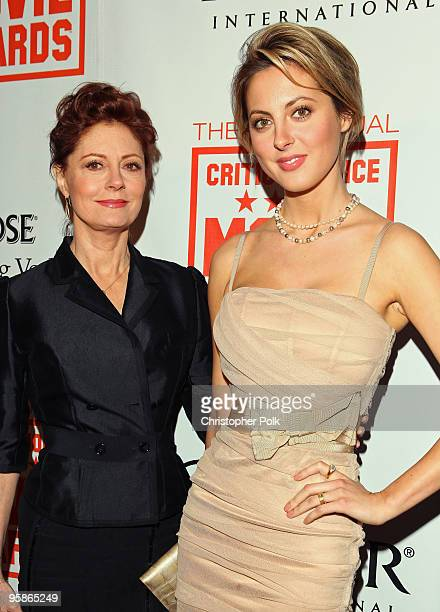 Actresses Susan Sarandon and daughter Eva Amurri arrive at the 15th annual Critic's Choice Awards after party held at Katsuya on January 15 2010 in...