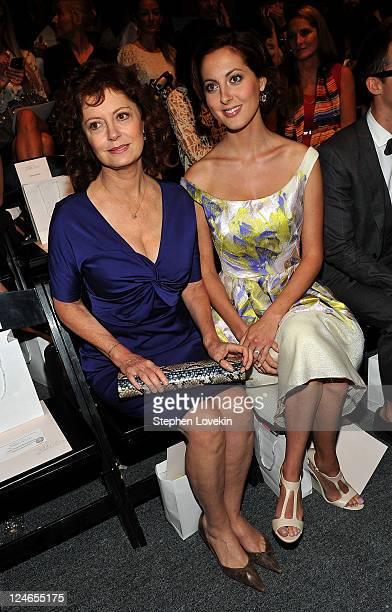 Actresses Susan Sarandon and daughter Eva Amurri attend the Lela Rose Spring 2012 fashion show during Mercedes-Benz Fashion Week at The Studio at...