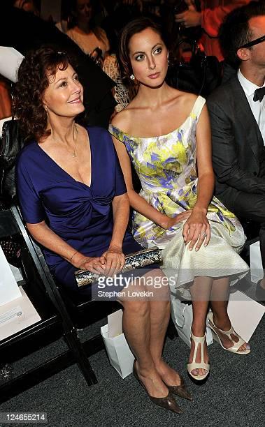 Actresses Susan Sarandon and daughter Eva Amurri attend the Lela Rose Spring 2012 fashion show during MercedesBenz Fashion Week at The Studio at...