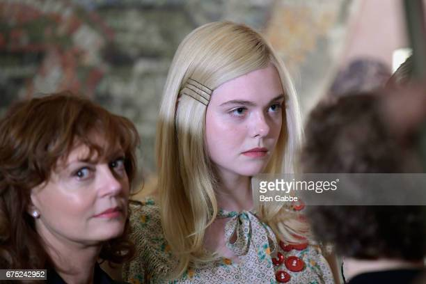 Actresses Susan Sarandon and Elle Fanning attend a special screening of '3 Generations' hosted by The Weinstein Company at the Whitby Hotel on April...