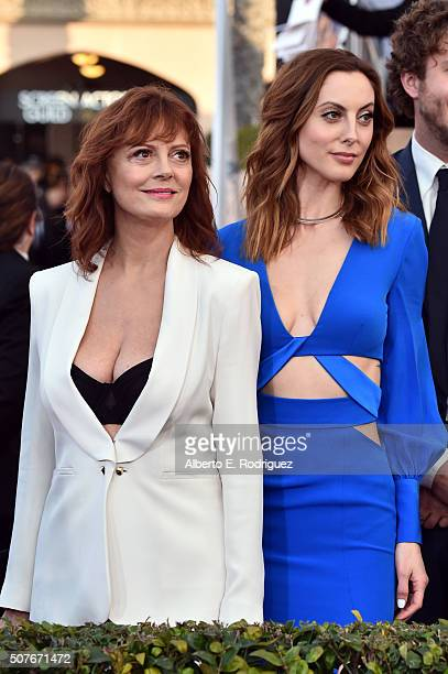 Actresses Susan Sarandon and Eva Amurri attend the 22nd Annual Screen Actors Guild Awards at The Shrine Auditorium on January 30 2016 in Los Angeles...