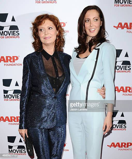 Actresses Susan Sarandon and Eva Amurri Martino attend the 13th annual AARP's Movies For Grownups Awards gala at Regent Beverly Wilshire Hotel on...