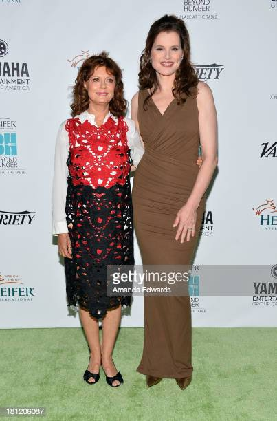 Actresses Susan Sarandon and Geena Davis arrive at the 2nd Annual Beyond Hunger A Place At The Table Benefit Honoring Susan Sarandon at Montage...