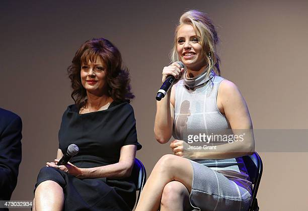 Actresses Susan Sarandon and Kelli Garner attend Lifetime's 'The Secret Life of Marilyn Monroe' Premiere Event at The Theater at The Ace Hotel on May...