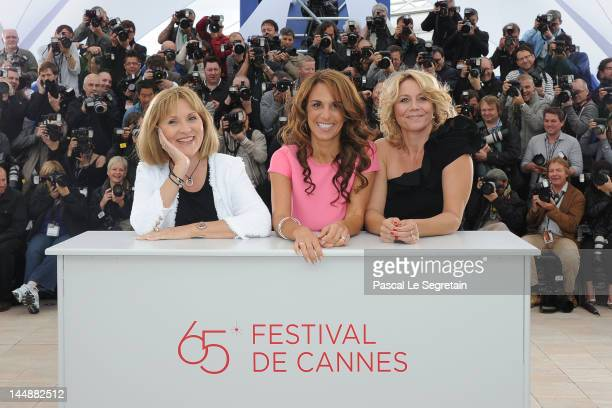 Actresses Susse Wold Alexandra Rapaport and Anne Louise Hassing pose at the 'Jagten' Photocall during the 65th Annual Cannes Film Festival at Palais...