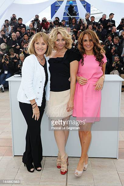 Actresses Susse Wold Anne Louise Hassing and Alexandra Rapaport pose at the 'Jagten' Photocall during the 65th Annual Cannes Film Festival at Palais...