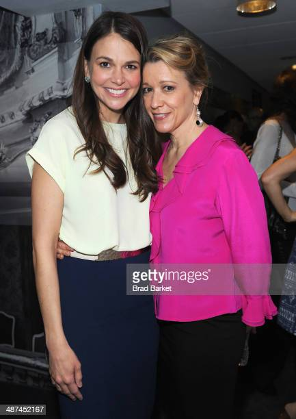 Actresses Sutton Foster and Linda Emond attend the 2014 Tony Awards Meet The Nominees Press Reception at the Paramount Hotel on April 30 2014 in New...