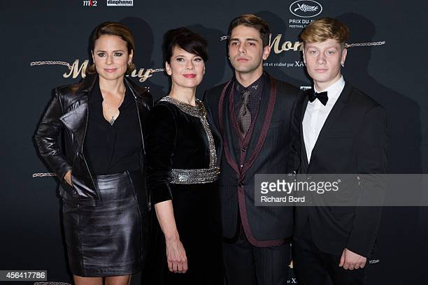 Actresses Suzanne Clement Anne Dorval director Xavier Dolan and actor Antoine Olivier Pilon attend the 'Mommy' Paris premiere at MK2 Bibliotheque on...