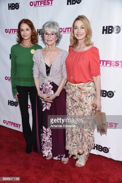 Actresses Swoosie Kurtz Rita Moreno and Sharon Lawrence arrive at the Outfest Documentary Competition Screening of 'Every Act Of Life' at the DGA...
