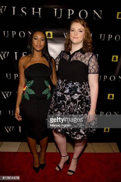 Actresses Sydney Park and Shannon Purser attend the 'Wish Upon' Atlanta screening at Regal Cinemas Atlantic Station Stadium 16 on July 11 2017 in...