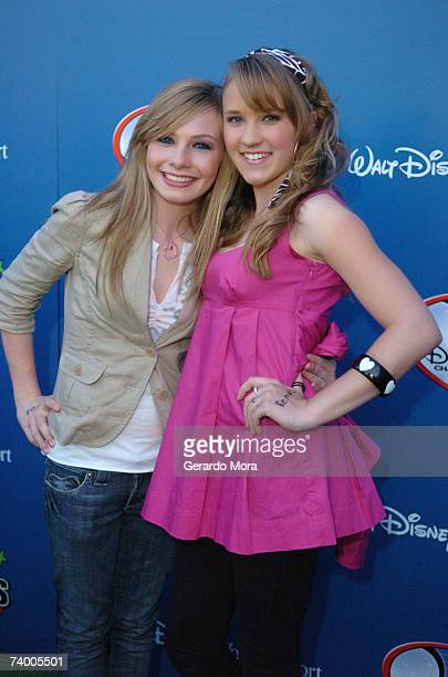 Actresses Sydney White of Kids of the Break and Emily Osment of Hannah Montana for the Disney Channel attend the Disney Channel Games 2007 AllStar...