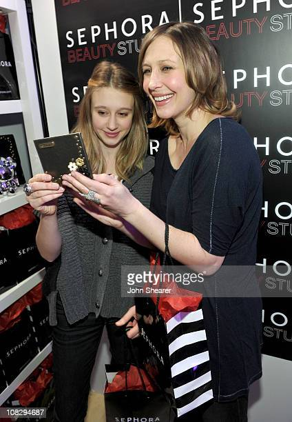 Actresses Taissa Farmiga and Vera Farmiga attend The PUMA FaasLab Lounge at The Samsung Galaxy Tab Lift on January 24 2011 in Park City Utah