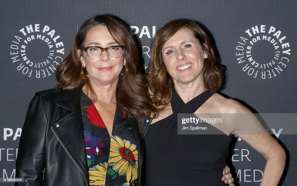 Actresses Talia Balsam (L) and Molly Shannon attend an evening with the cast of 'Divorce' at The Paley Center for Media on February 8, 2018 in New York City.