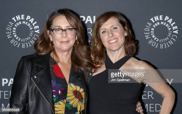 Actresses Talia Balsam and Molly Shannon attend an evening with the cast of 'Divorce' at The Paley Center for Media on February 8 2018 in New York...