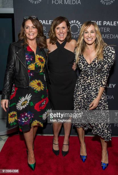 Actresses Talia Balsam Molly Shannon and Sarah Jessica Parker attend An Evening With The Cast Of 'Divorce' at The Paley Center for Media on February...