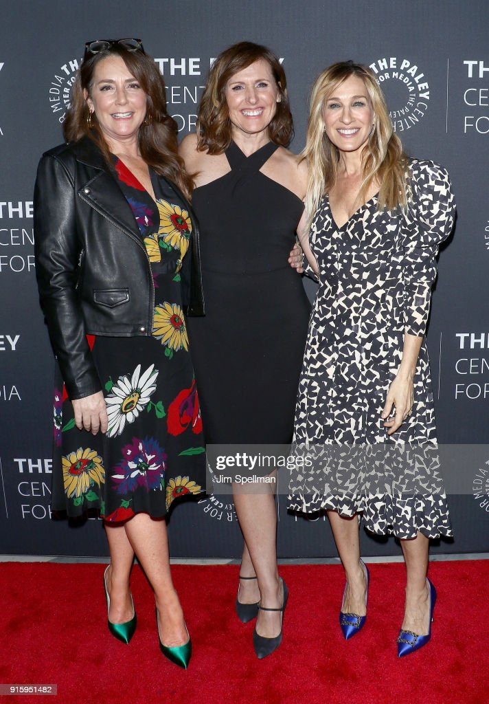 Actresses Talia Balsam, Sarah Jessica Parker and Molly Shannon attend an evening with the cast of 'Divorce' at The Paley Center for Media on February 8, 2018 in New York City.
