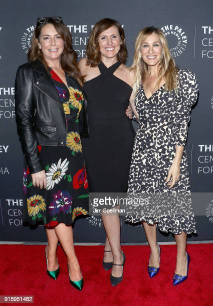 Actresses Talia Balsam Sarah Jessica Parker and Molly Shannon attend an evening with the cast of 'Divorce' at The Paley Center for Media on February...