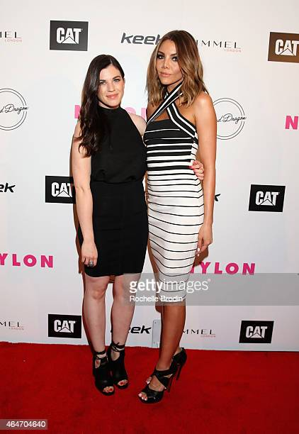 Actresses Talia Zucker and Rebecca Murphy attend NYLON Magazine's Spring Fashion Issue Celebration hosted by Rita Ora at Blind Dragon on February 27,...