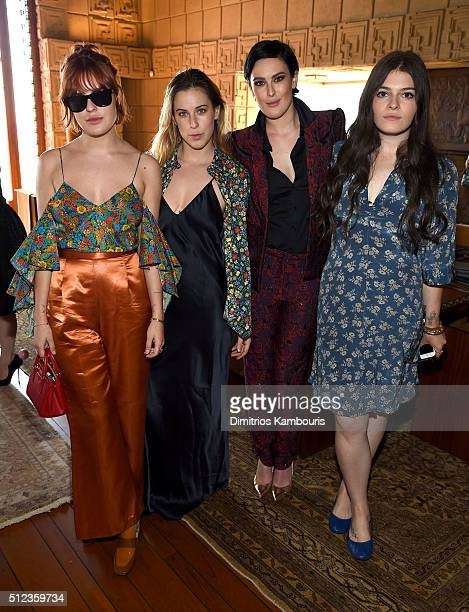 Actresses Tallulah Willis Scout Willis and Rumer Willis attend the MAC Cosmetics Zac Posen luncheon at the Ennis House hosted by Karen Buglisi Weiler...