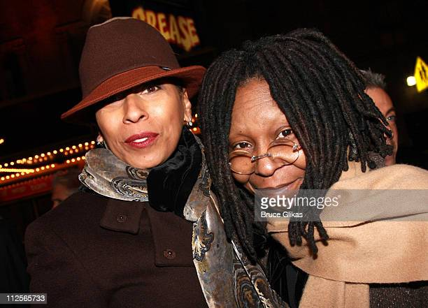 """Actresses Tamara Tunie and Whoopi Goldberg arrive at the opening night for the Broadway revival of """"Come Back, Little Sheba"""" at the Biltmore Theater..."""
