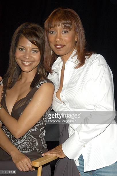 Actresses Tanya Boyd and Renee Jones pose during the second day of NBC's Fan Festival 2004 held on March 21 2004 at Universal City Walk in Hollywood...