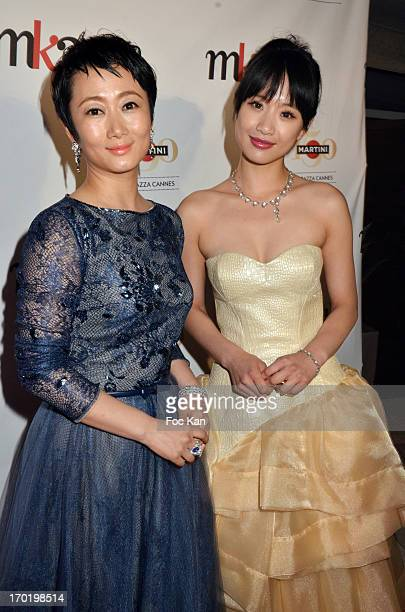 Actresses Tao Zaho and Meng Li attend 'The Touch of Sin' Private Cocktail during the Terrazza Martini at The 66th Annual Cannes Film Festivalon May...