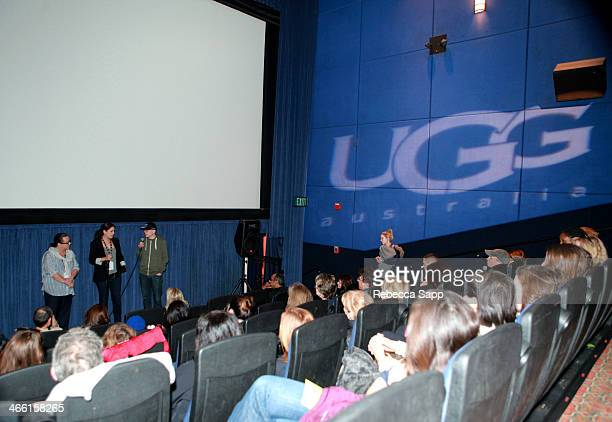 Actresses Tara Karsian and Andrea Grano and director Andy Putschoegl speak at a screening of BFFs at the Metro 4 at the 29th Santa Barbara...