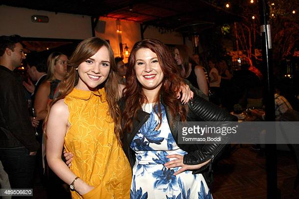 Actresses Tara Lynne Barr and Stefanie Black attend the Hulu Original Casual premiere at Gracias Madre on September 21 2015 in West Hollywood...