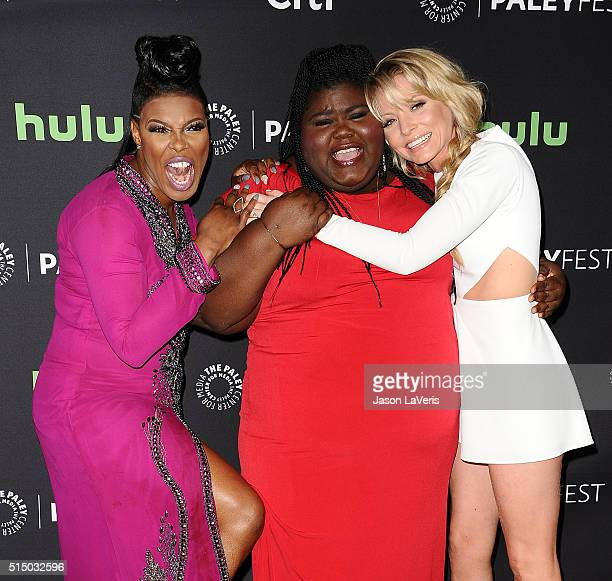 Actresses Ta'Rhonda Jones Gabourey Sidibe and Kaitlin Doubleday attend the Empire event at the 33rd annual PaleyFest at Dolby Theatre on March 11...