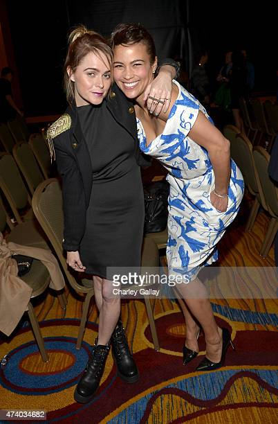 Actresses Taryn Manning and Paula Patton attend The Marriott Content Studio's French Kiss film premiere at the Marina del Rey Marriott on May 19 2015...