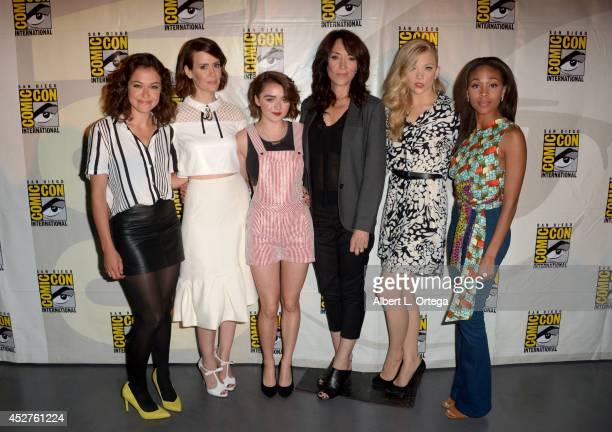 Actresses Tatiana Maslany Sarah Paulson Maisie Williams Katey Sagal Natalie Dormer and Nicole Beharie attend Entertainment Weekly Women Who Kick Ass...