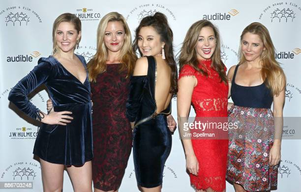 Actresses Taylor Louderman Kate Rockwell Ashley Park Erika Henningsen and Kerry Butler attend the 2017 New York Stage and Film Winter Gala at Pier...