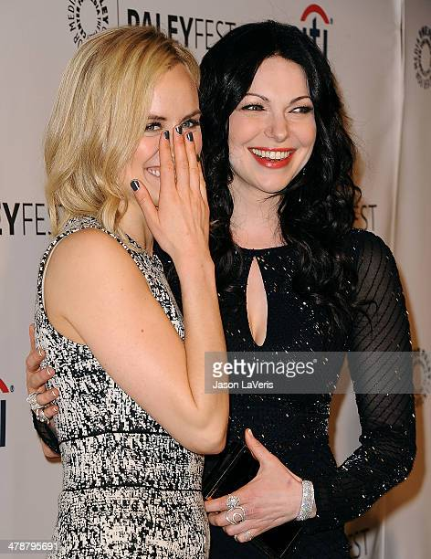 Actresses Taylor Schilling and Laura Prepon attend the Orange Is The New Black event at the 2014 PaleyFest at Dolby Theatre on March 14 2014 in...