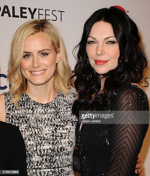 Actresses Taylor Schilling and Laura Prepon attend the 'Orange Is The New Black' event at the 2014 PaleyFest at Dolby Theatre on March 14 2014 in...