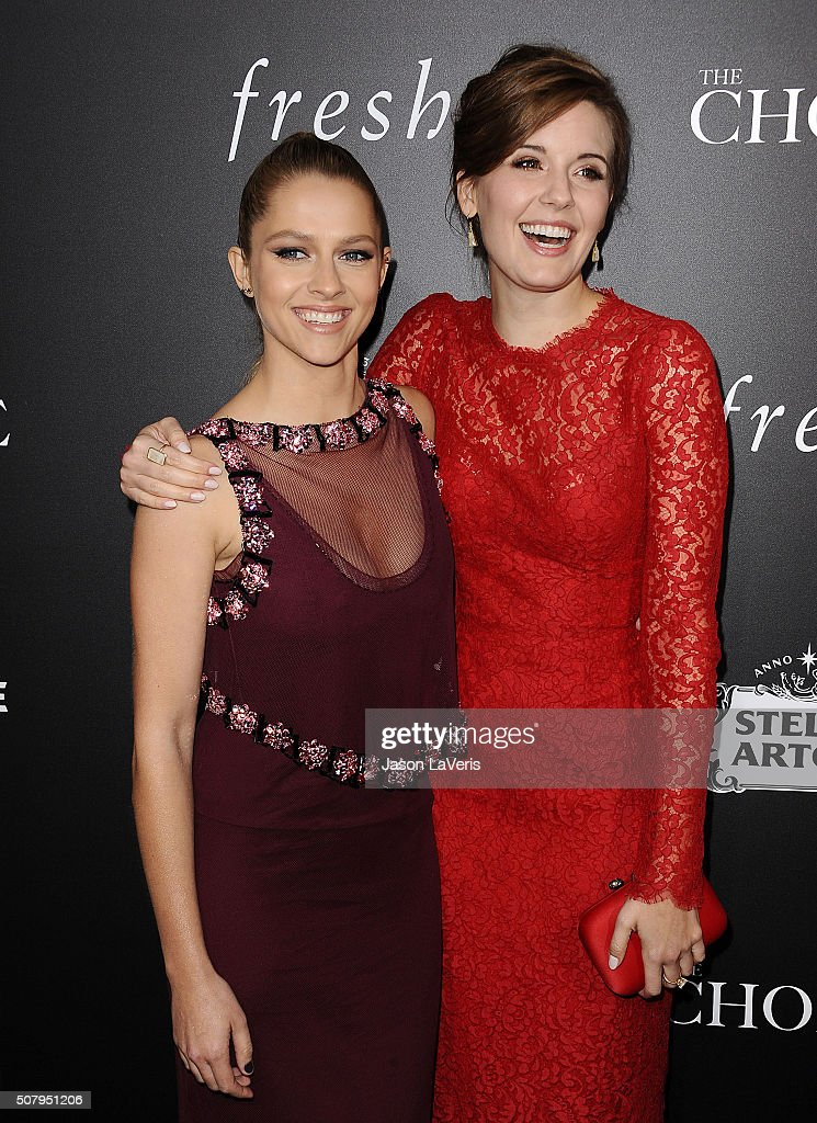 Actresses Teresa Palmer and Maggie Grace attend the premiere of 'The Choice' at ArcLight Cinemas on February 1, 2016 in Hollywood, California.
