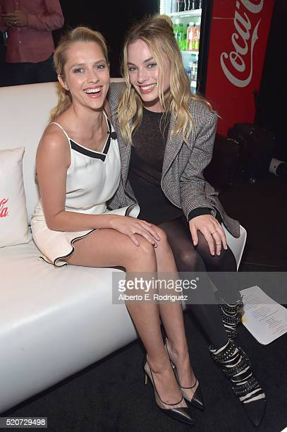 Actresses Teresa Palmer and Margot Robbie attend CinemaCon 2016 Warner Bros Pictures Invites You to 'The Big Picture' an Exclusive Presentation...