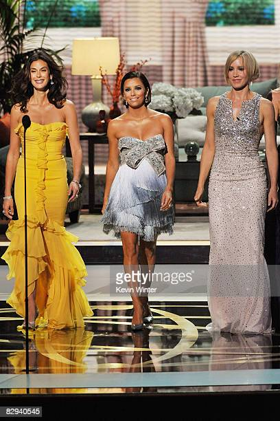 Actresses Teri Hatcher Eva Longoria Parker and Felicity Huffman present the Supporting Actor in a Drama Series award during the 60th Primetime Emmy...